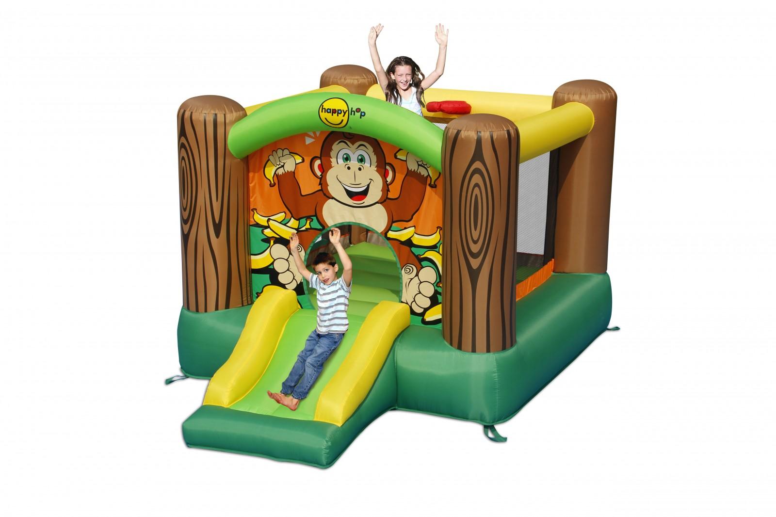 Happyhop bouncy castle monkey house cheeta acheter bon prix chez fitshop - Acheter chateau gonflable ...
