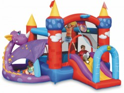 Bouncy castle Dragon's castle with slide purchase online now