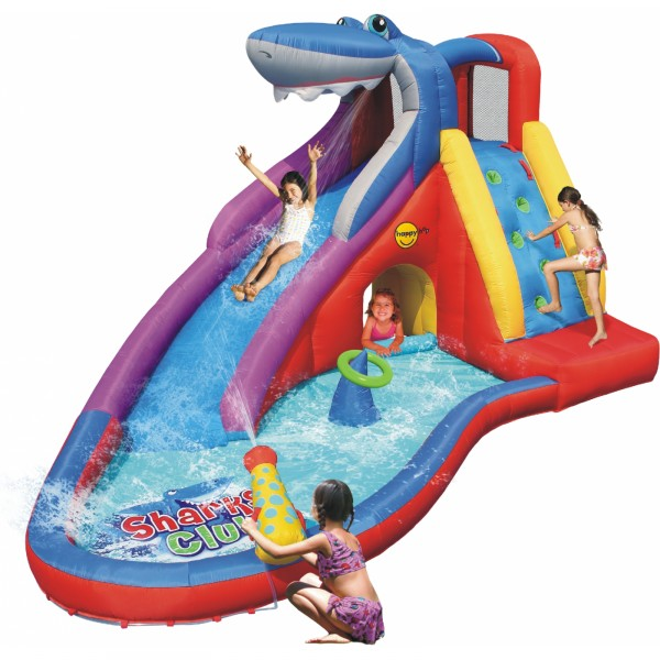 Castillo Hinchable HappyHop Tobogán de Agua Haicenter Sharky