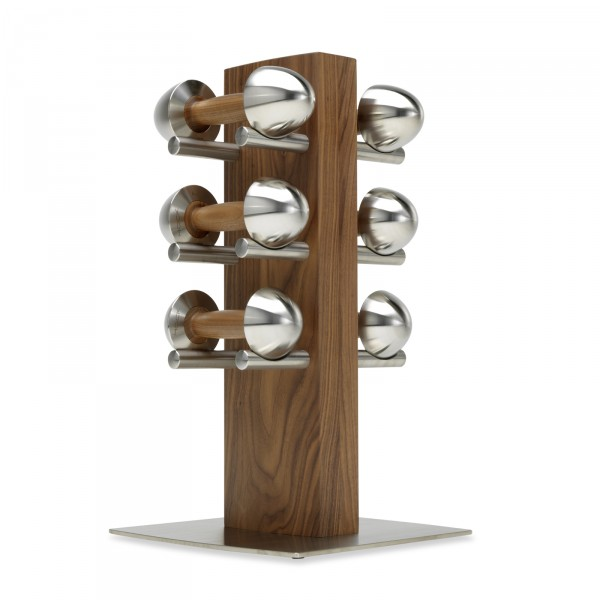 Hock LOFT dumbbell pairs with dumbbell stand