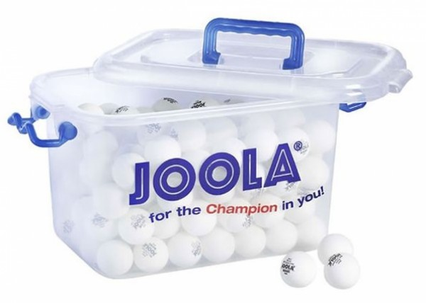 Seau de 144 balles de ping-pong blanches Joola Magic Ball