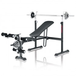 Kettler weight bench Primus 100 incl. curlpult, dumbbell and barbell set purchase online now