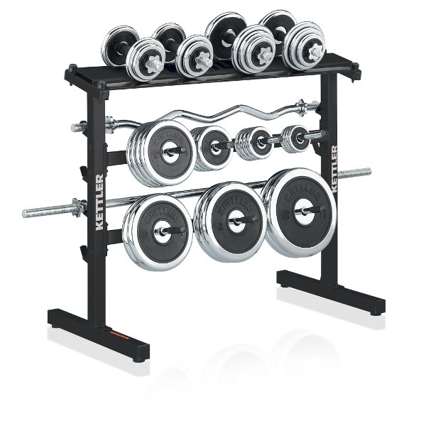 Kettler dumbbel and weight plates stand