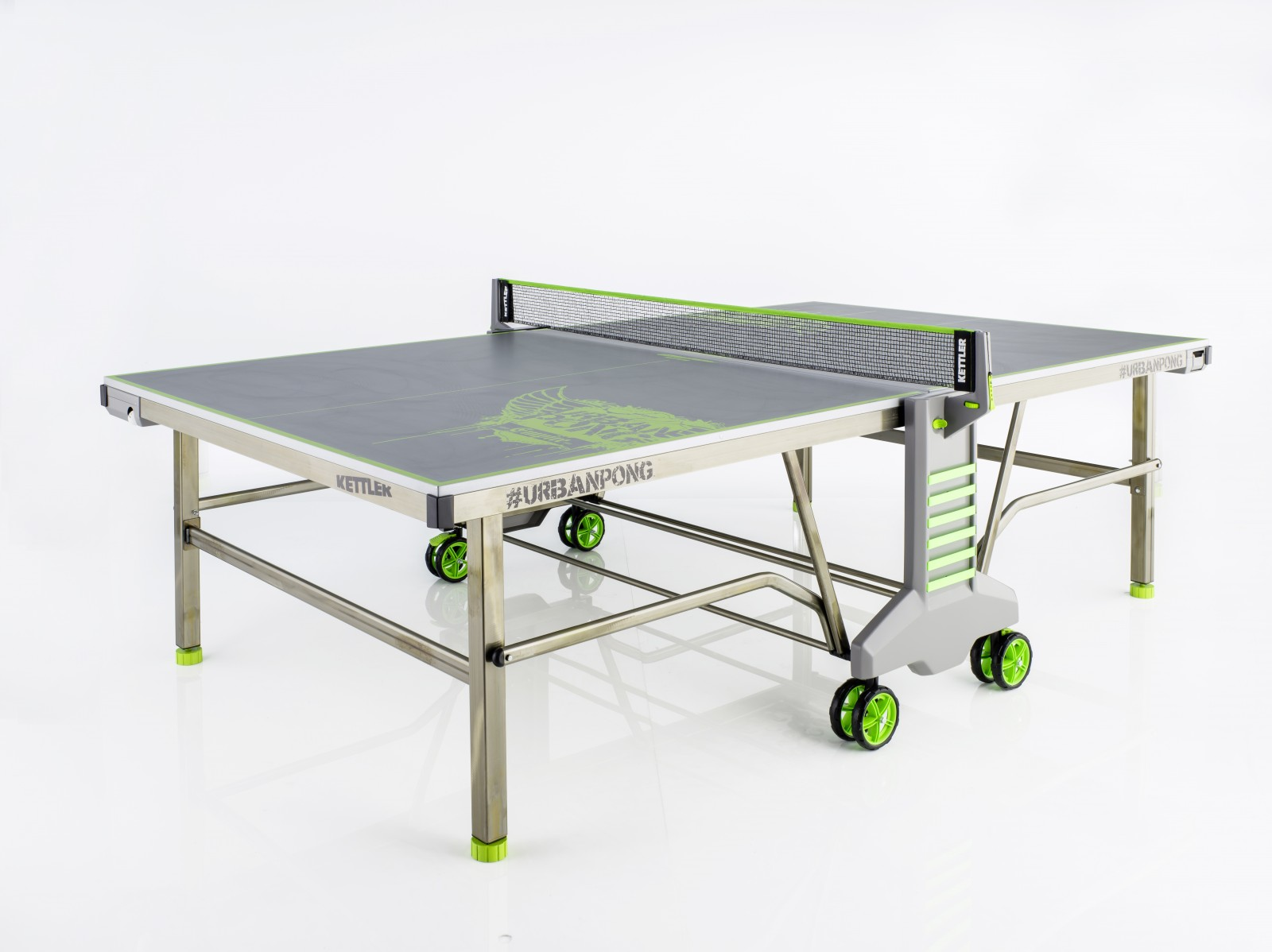 Kettler table tennis table urban pong best buy at sport for Table kettler