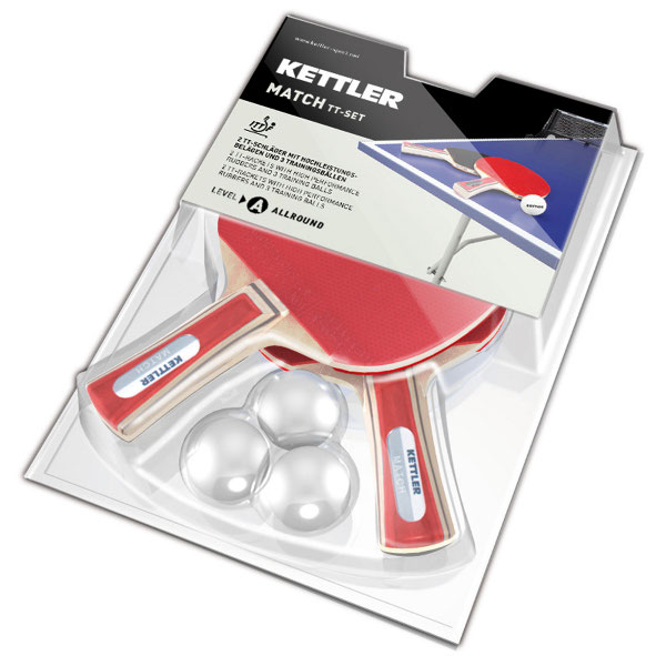 Kettler table tennis racket set Match
