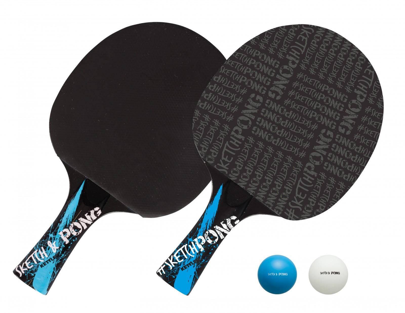 kettler table tennis racket set sketchpong sport tiedje. Black Bedroom Furniture Sets. Home Design Ideas