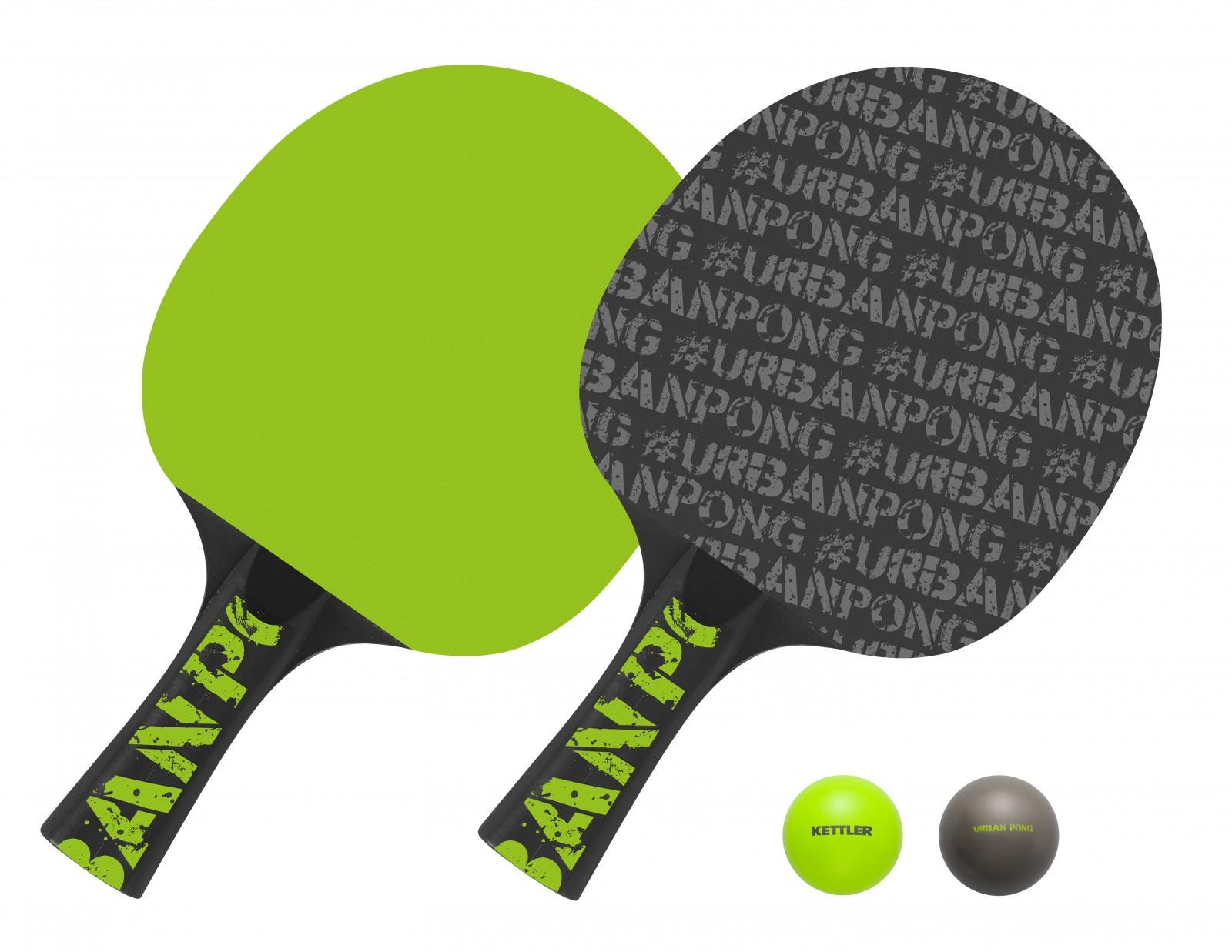 kettler tischtennisschl ger set urban pong g nstig kaufen. Black Bedroom Furniture Sets. Home Design Ideas