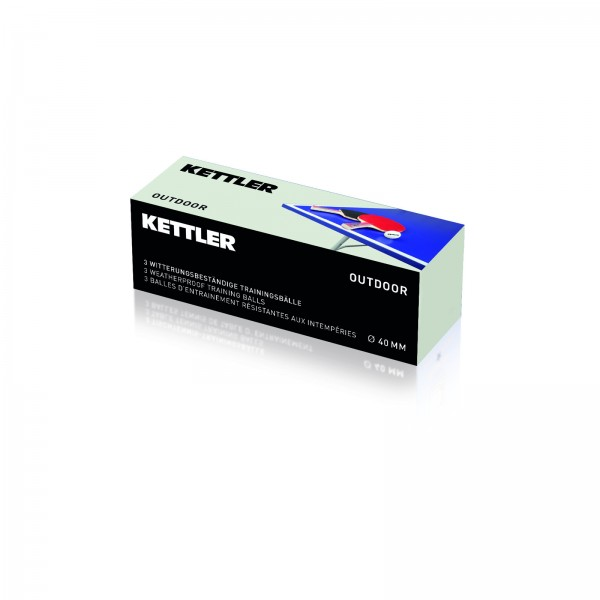 Kettler table tennis ball Outdoor pack of 3