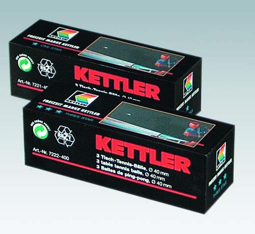 Balles de tennis de table Kettler Three Star