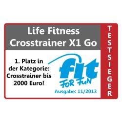 Der Crosstrainer X1 Go ist Fit for Fun Testsieger (11/2013) in der Kategorie Crosstrainer bis 2000 Euro