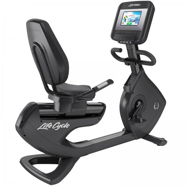 Horizontální ergometr Life Fitness Platinum Club řada Discover SI onyxová černá