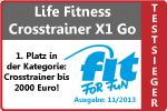 Crosstrainer Testsieger der Fit for Fun 11/2013