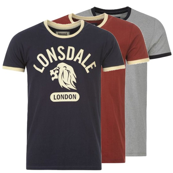 lonsdale t shirt men 39 s ringer tee best buy at sport tiedje. Black Bedroom Furniture Sets. Home Design Ideas