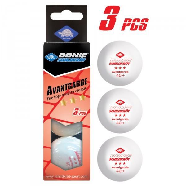 Donic-Schildkröt TT ball 3*** Avantgarde, pack of 3 Product picture