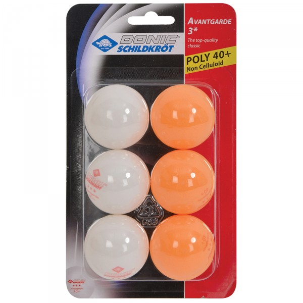 Donic-Schildkröt palline da ping-pong 3 Stern Avantgarde Poly
