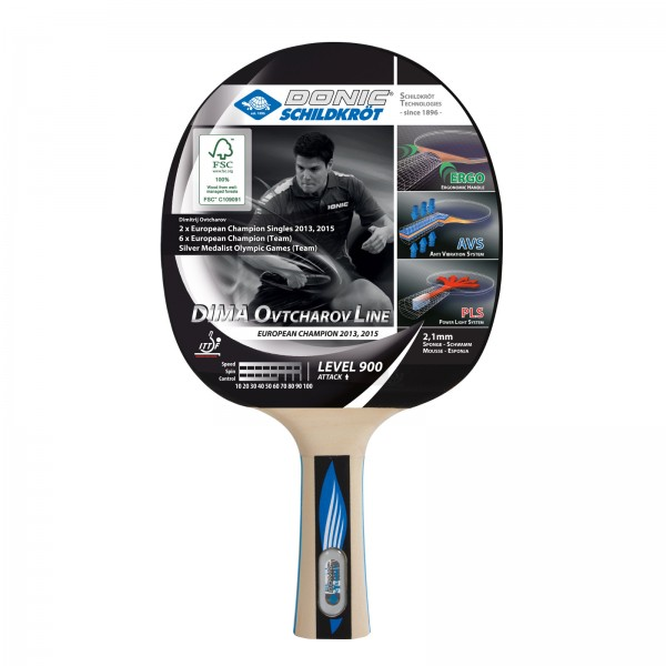 Donic Schildkröt table tennis bat Ovtcharov 900
