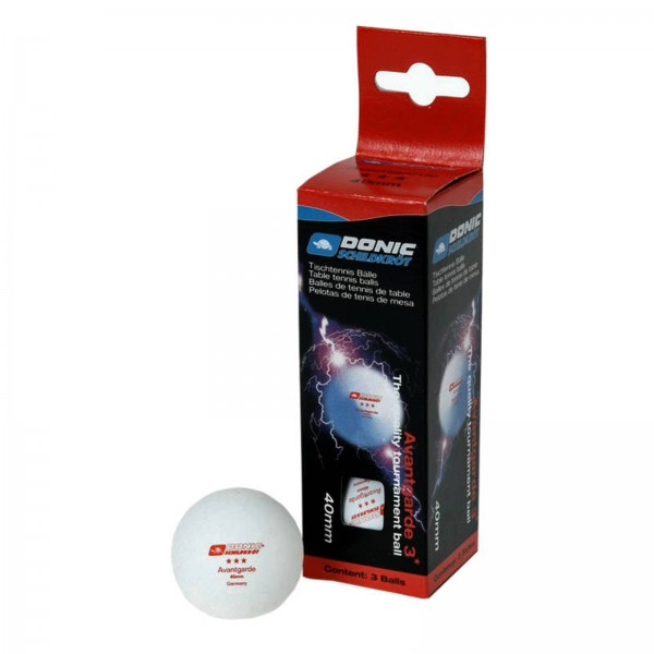 Donic-Schildkröt TT ball 3*** Avantgarde, pack of 3