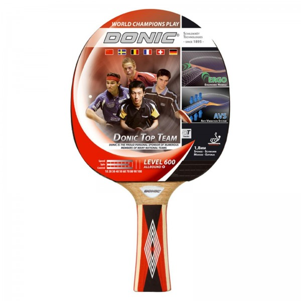 Donic table tennis bat Top Teams 600, concave