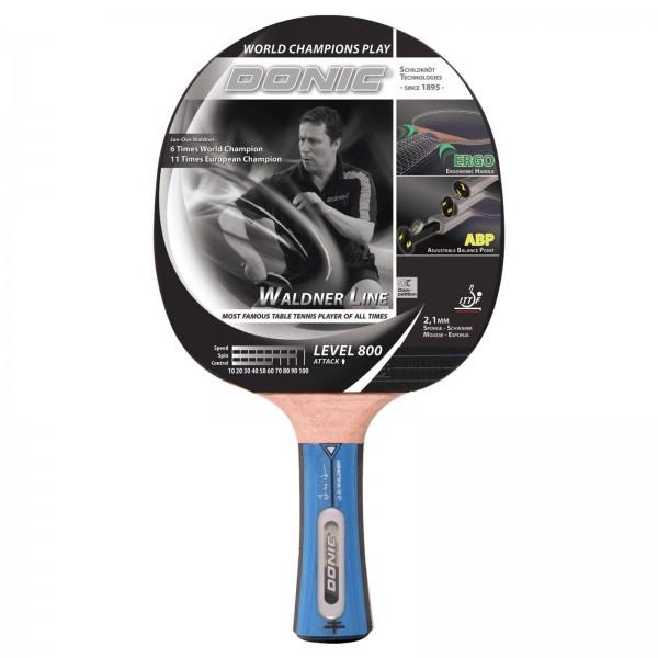 Raquette de tennis de table concave - Donic-Schildkröt Waldner 800 avec DVD