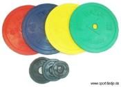 Hantelscheiben 50mm, gummiert jetzt online kaufen
