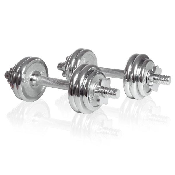 Sport-Tiedje Chrom-Kurzhantelset 15kg