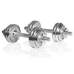 Sport-Tiedje kit d'haltères courts en chrome 15kg