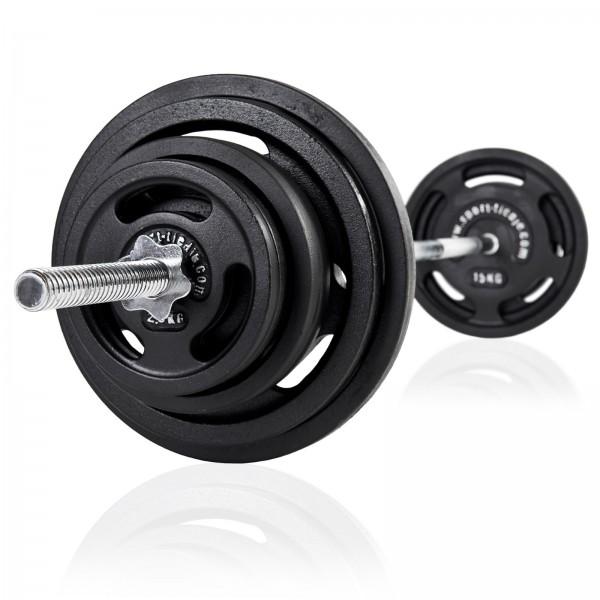 Sport-Tiedje Langhantel Set 90 kg