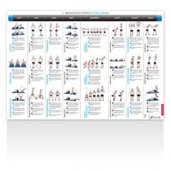 Sport-Tiedje poster d'exercices kettlebells Detailbild