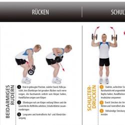 Fitshop plakat med øvelser for manualer Detailbild