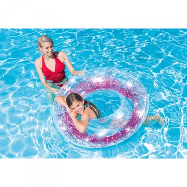Intex Schwimmreifen Transparent Glitter