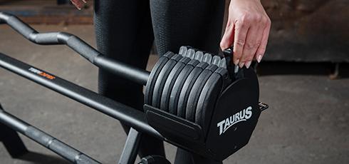 Taurus Selectabell Langhantel und Curlstange Schnell, schneller, Selectabell