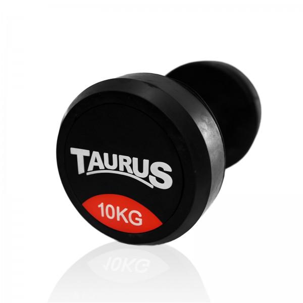 Haltère compact professionnel Taurus en caoutchouc