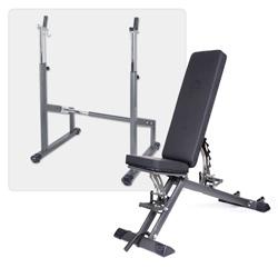Taurus banc de musculation B900 + station d'entraînement d'haltères longs