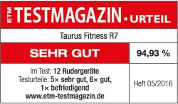Testsiegel Taurus Rudergerät R7