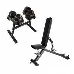 Taurus træningsbænk B900 + SelectaBell tilbudssæt køb på nettet nu
