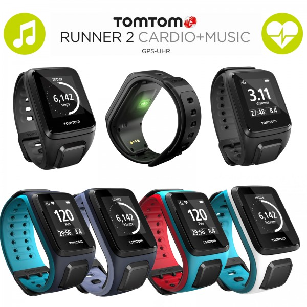 TomTom Runner 2 Cardio + Music GPS-Sportuhr