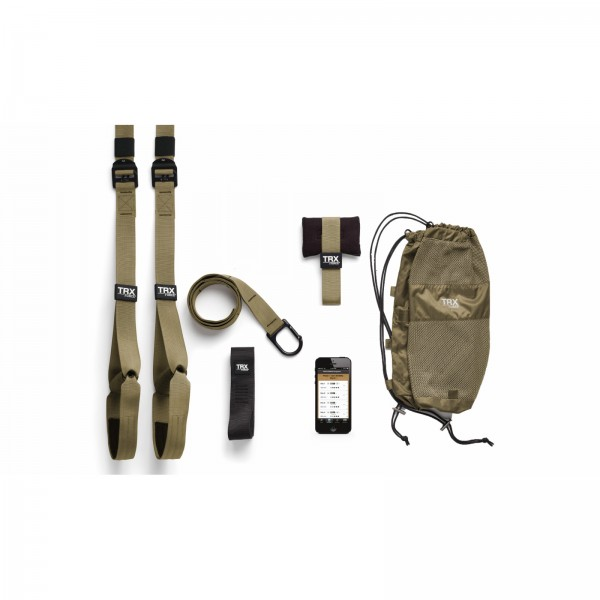 TRX Force Kit: Tactical Sling Trainer-setti sis. TRX Force Super Appsin