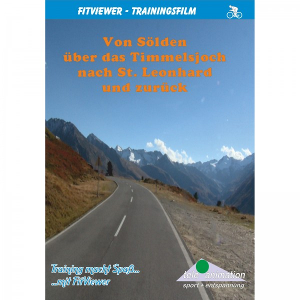 Vitalis FitViewer DVD Sölden via the Timmeljoch to St. Leonhard and back