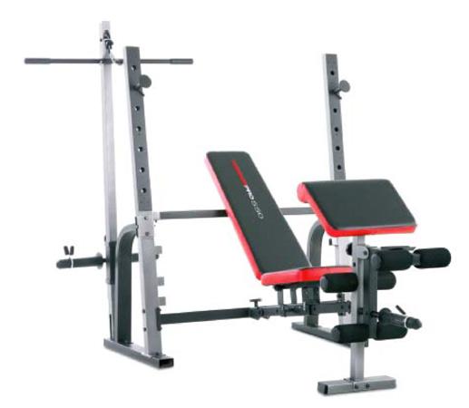 Banc de musculation weider pro 550 fitshop - Banc de musculation complet professionnel ...
