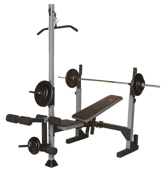 Free Weights On Bench: Weider Pro 435 Free Weight Bench