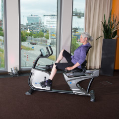 Recumbent bikes are exercise bikes with a back-rest