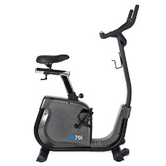 Exercise bike with deep step-through