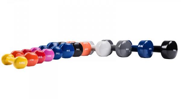 Aerobic-Hantel Set mit Kunststoffummantelung