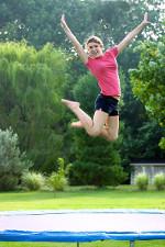 Trampolín de jardín - Diversión de salto al aire libre