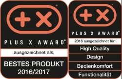 Ejemplo: sello del test Plus X-Award