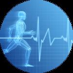 Medición de frecuencia cardíaca con pulsómetro