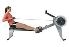 Rudergerät Training: Die Rücklage